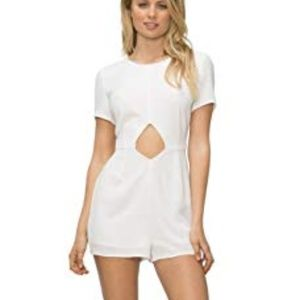 Tavik Womens White Cutout Romper